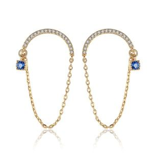 LUOTEEMI 925 Sterling Silver Cystal Earrings